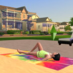 Children Can Sunbathe On A Beach Towel And On A Lounge Chair