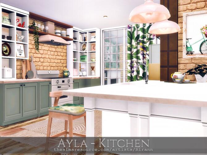 Sims 4 Ayla Kitchen by Rirann at TSR