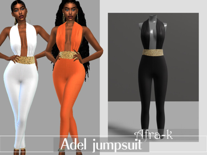 Adel Jumpsuit By Akaysims