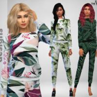 Tropical Sleepwear By Pinkfizzzzz