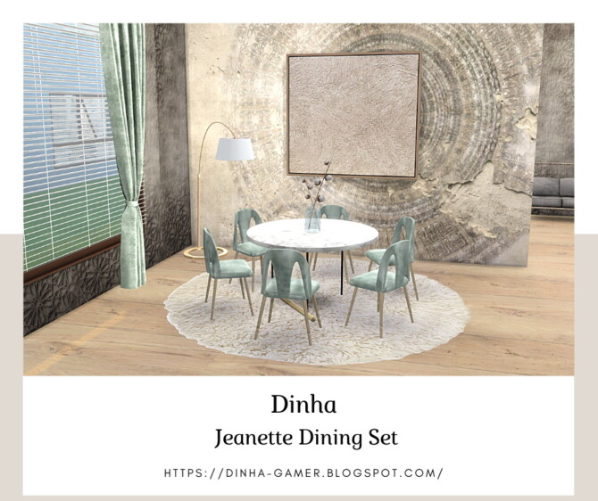 Sims 4 Jeanette Dining Set at Dinha Gamer