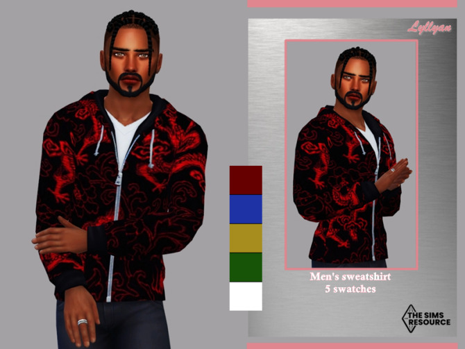Sims 4 Mens sweatshirt Paulo by LYLLYAN at TSR