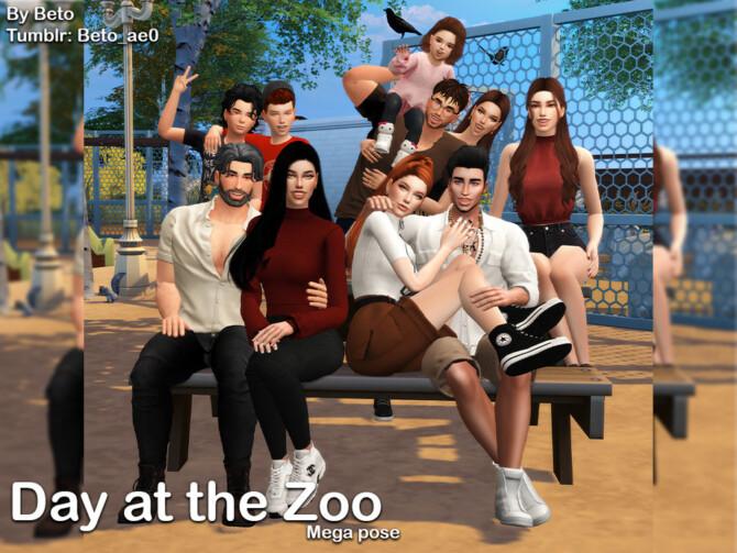 Sims 4 Day at the Zoo (Mega Pose) by Beto ae0 at TSR