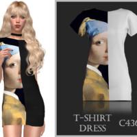 T-shirt Dress C436 By Turksimmer