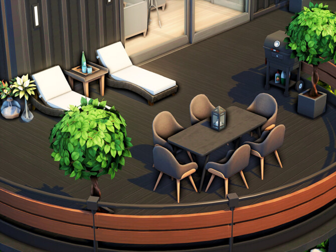 Sims 4 Oak Container by xogerardine at TSR