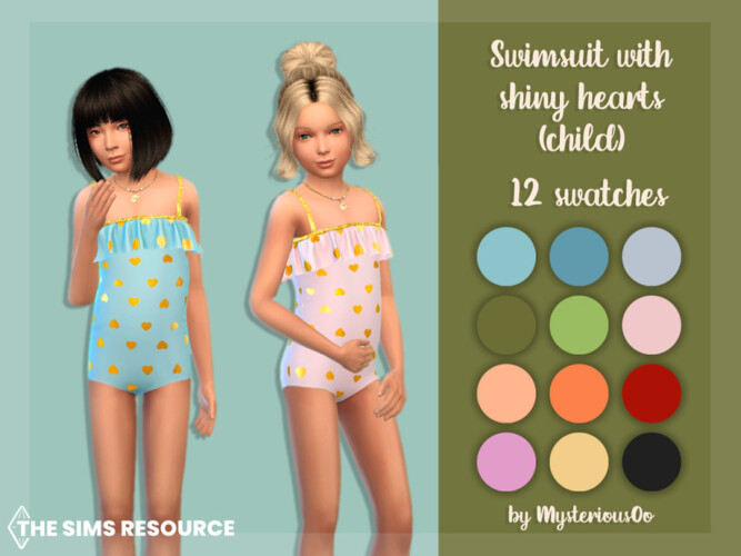 Swimsuit With Shiny Hearts (child) By Mysteriousoo