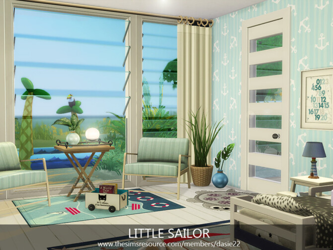 Sims 4 LITTLE SAILOR bedroom by dasie2 at TSR