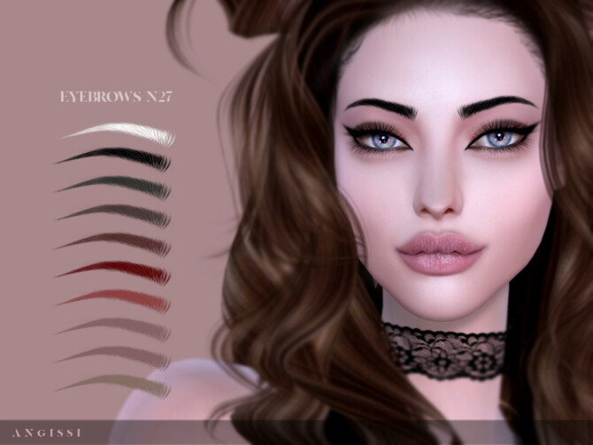 Sims 4 Eyebrows n27 by ANGISSI at TSR