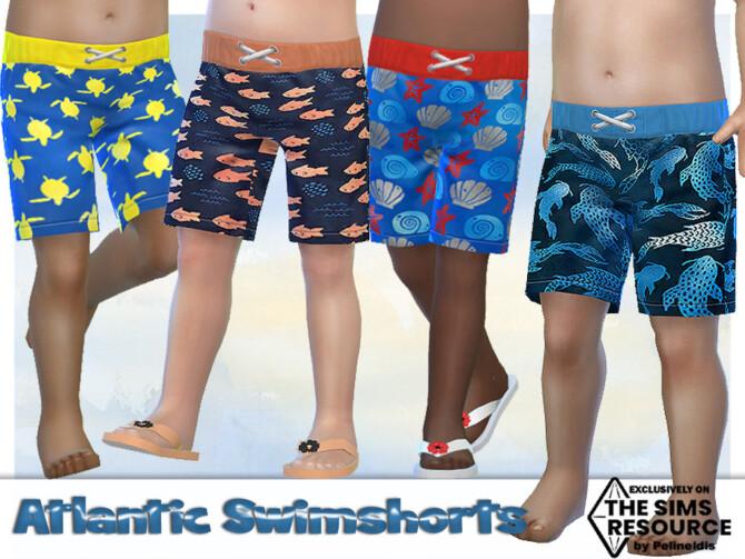 Sims 4 Atlantic Swimshorts by Pelineldis at TSR
