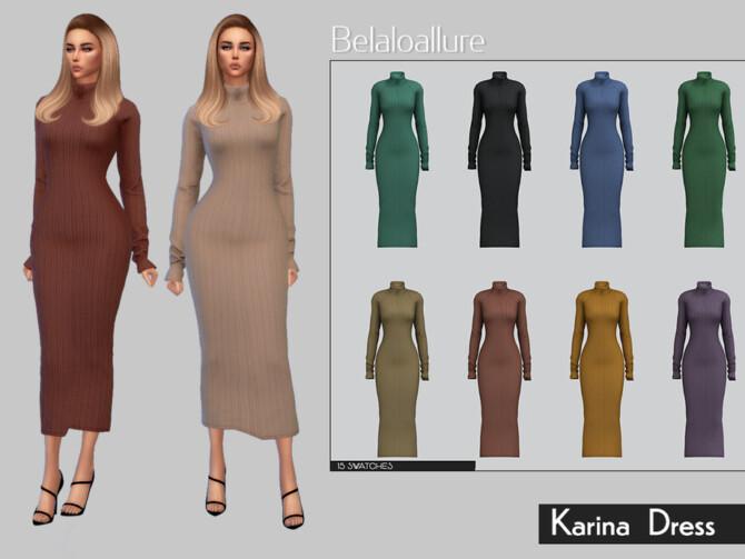 Sims 4 Belaloallure Karina dress by belal1997 at TSR