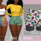 Print Pj Shorts By Akaysims