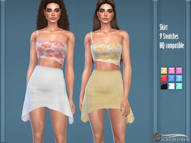 Midi Handkerchief Hem Skirt By Harmonia
