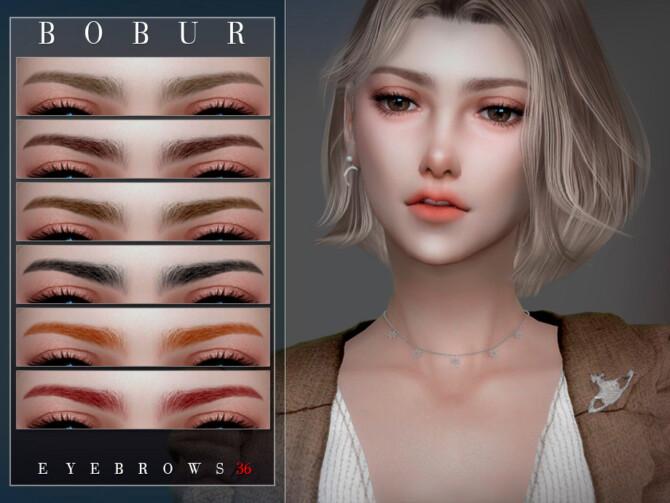 Sims 4 Eyebrows 36 by Bobur3 at TSR