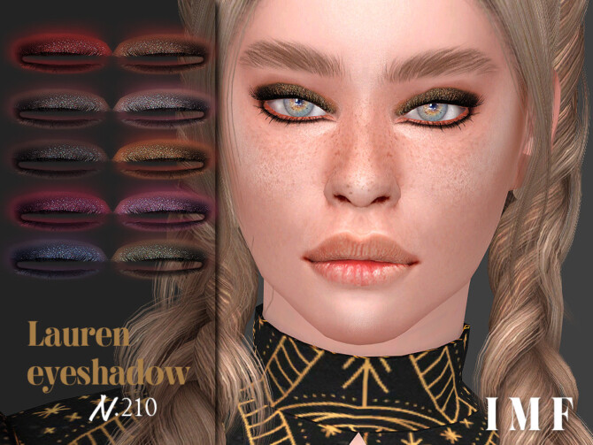 Sims 4 IMF Lauren Eyeshadow N.210 by IzzieMcFire at TSR