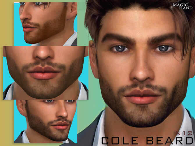 Sims 4 Cole Beard N12 by MagicHand at TSR
