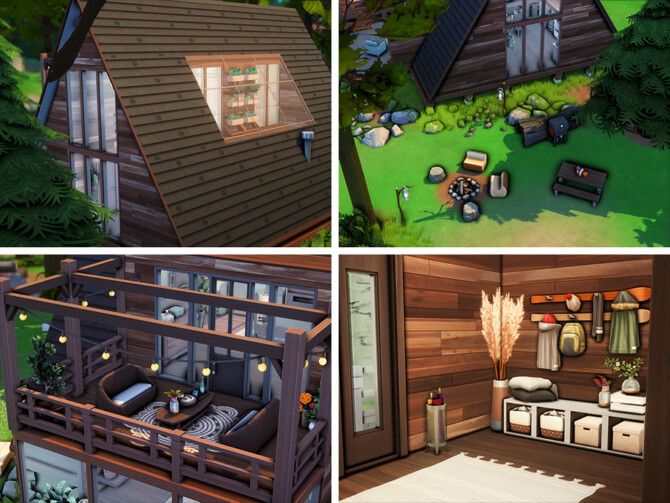 Sims 4 Crafty A Frame House by xogerardine at TSR