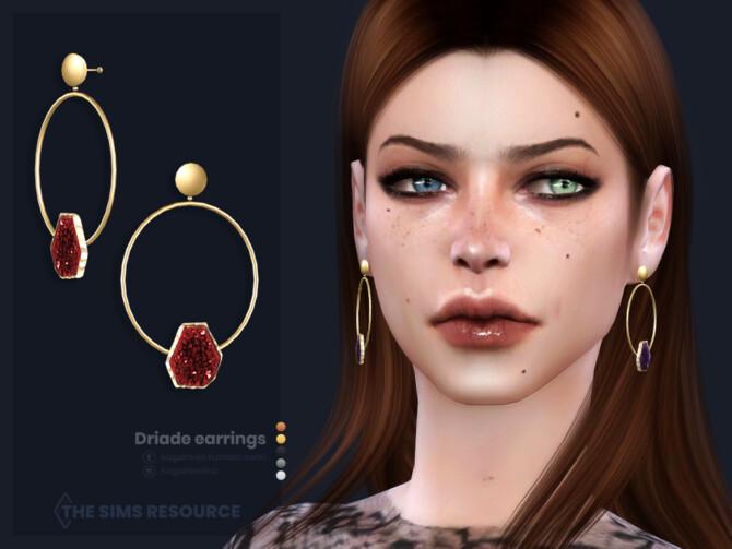 Sims 4 Driade earrings by sugar owl at TSR