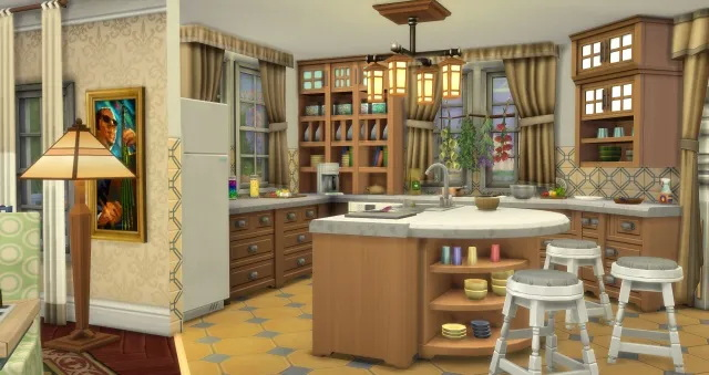 Sims 4 Yellow Rose House by Oldbox at All 4 Sims