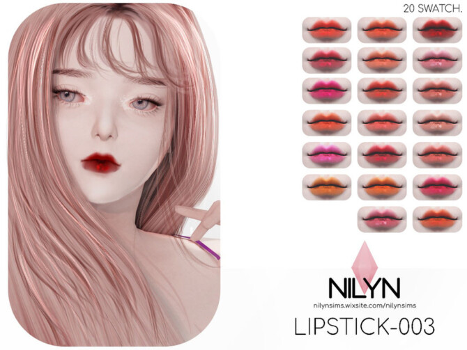 Sims 4 LIPSTICK 003 by NILYN SIMS at TSR