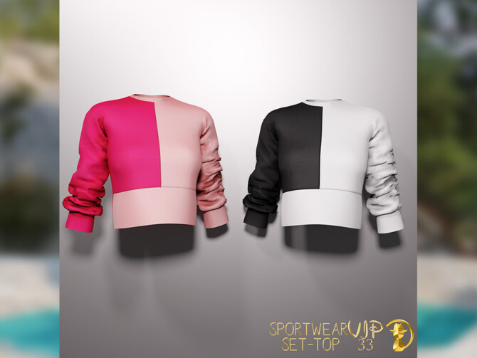 Sims 4 Sportwear Set Top VIP33 by turksimmer at TSR