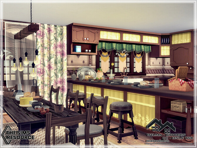 Sims 4 WILMA Kitchen by marychabb at TSR