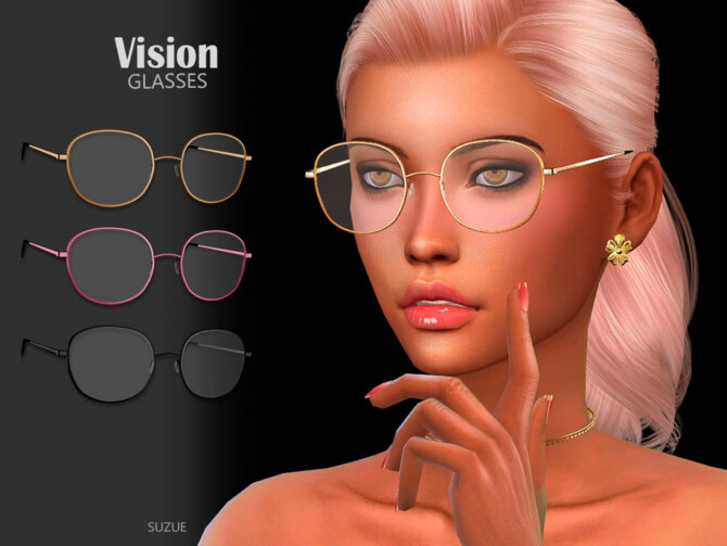 Sims 4 Vision Glasses by Suzue at TSR