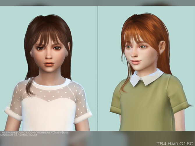 Sims 4 Child Hair G16C by DaisySims at TSR