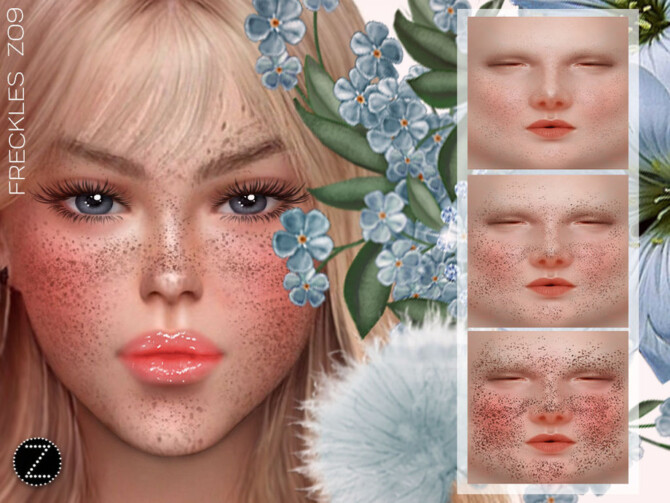 Sims 4 FRECKLES Z09 by ZENX at TSR