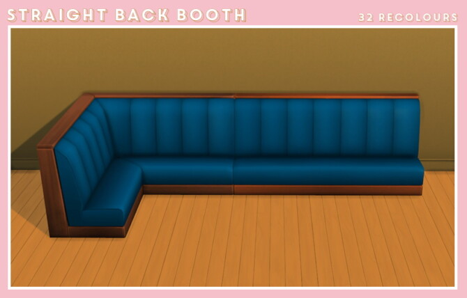 Sims 4 Dine out booth recolors at Midnightskysims