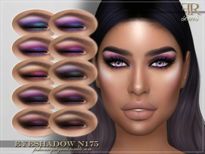 Sims 4 FRS Eyeshadow N175 by FashionRoyaltySims at TSR