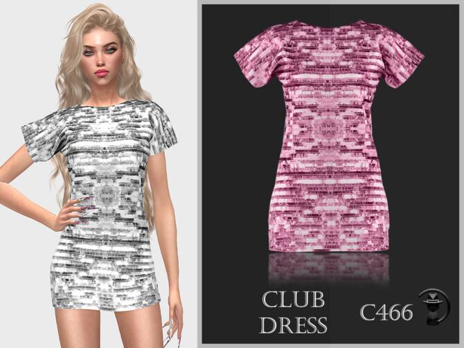 Sims 4 Club Dress C466 by turksimmer at TSR
