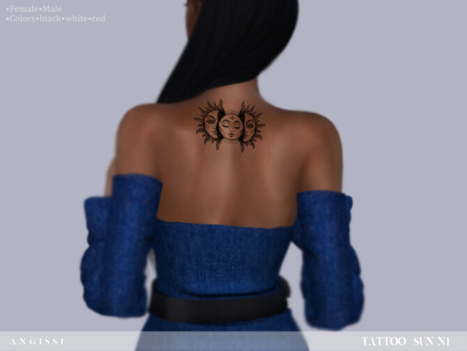 Sims 4 Tattoo Sun n1 by ANGISSI at TSR