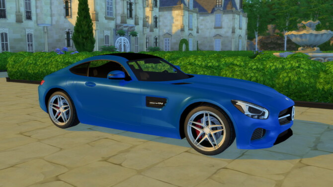 Sims 4 2016 Mercedes Benz AMG GT at Modern Crafter CC
