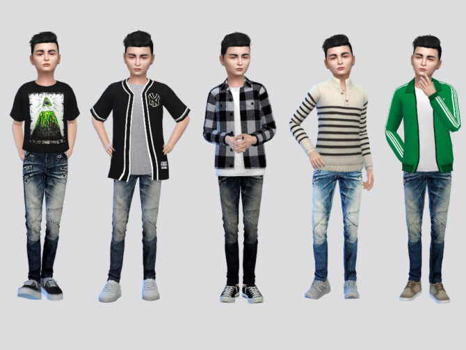 Sims 4 Metal Holed Jeans Boys by McLayneSims at TSR