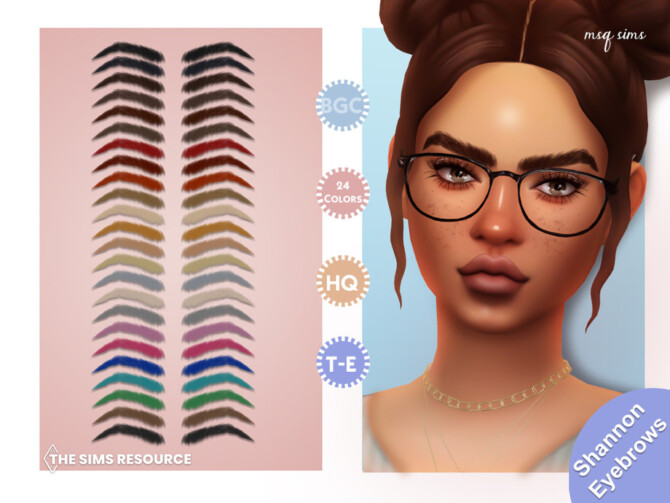 Sims 4 Shannon Eyebrows by MSQSIMS at TSR