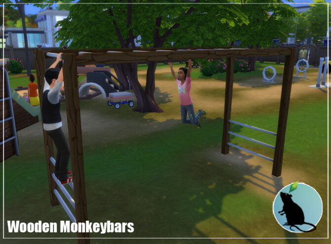 Sims 4 Wooden Monkey Bars at Standardheld