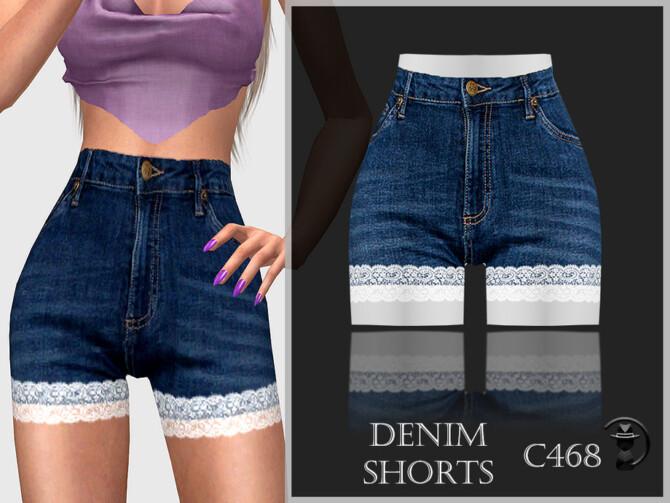 Sims 4 Denim Shorts C468 by turksimmer at TSR