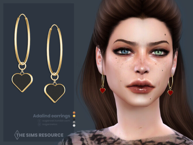 Sims 4 Adalind earrings by sugar owl at TSR