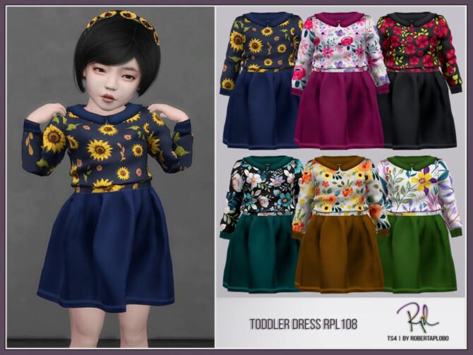 Sims 4 Toddler Dress RPL108 by RobertaPLobo at TSR
