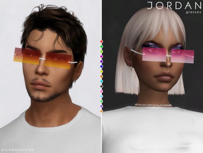 Sims 4 JORDAN glasses by Plumbobs n Fries at TSR