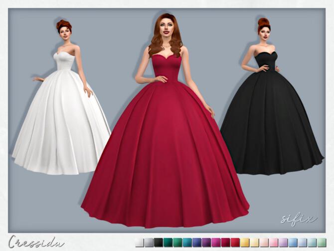 Sims 4 Cressida Dress by Sifix at TSR