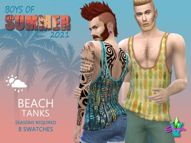 Sims 4 BoS Beach Loose Tank by SimmieV at TSR