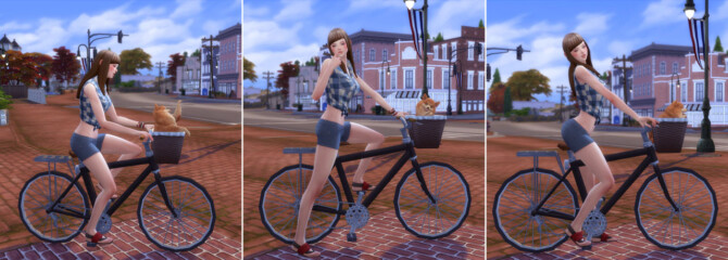 Sims 4 Bicycle Poses Me & Dog (Msize) at A luckyday