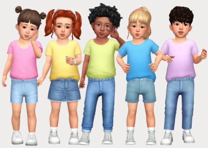 Sims 4 Basic tucked t shirts at Casteru