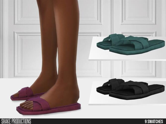 Sims 4 717 Leather Slippers by ShakeProductions at TSR