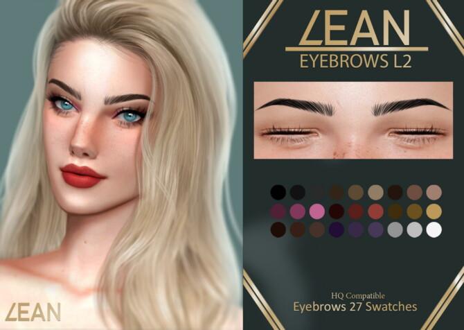 Sims 4 EYEBROWS L2 at LEAN