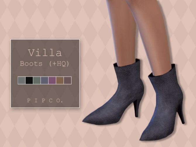 Sims 4 Villa Boots by Pipco at TSR