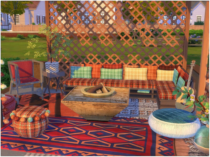 Sims 4 Moroccan Deck by lotsbymanal at TSR