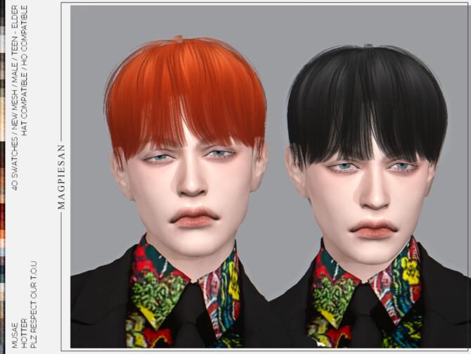 Sims 4 Hotter Hair by magpiesan at TSR