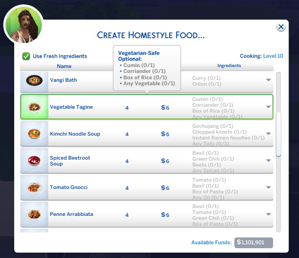 Sims 4 Vegetable Tagine Custom Recipe at Mod The Sims 4